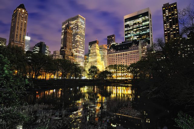 Pond at Night, Central Park